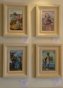 Four small paintings on show at Avalon, Marazion.