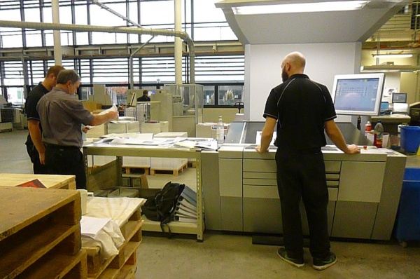 Making a small book with the St Austell Printing Company.