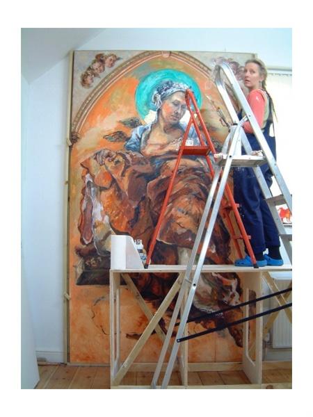 Zoe Cameron in her Cornish Studio